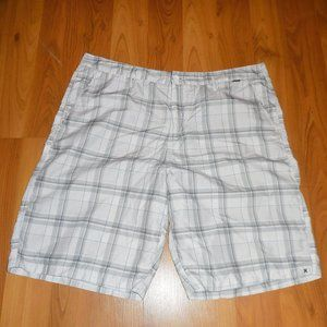 Men's Hurley White Black Shorts 38